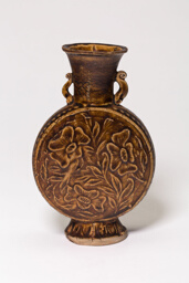 Amphora-Type Vase with Stylized Flowers