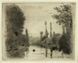 River Scene with Boat (Small plate)