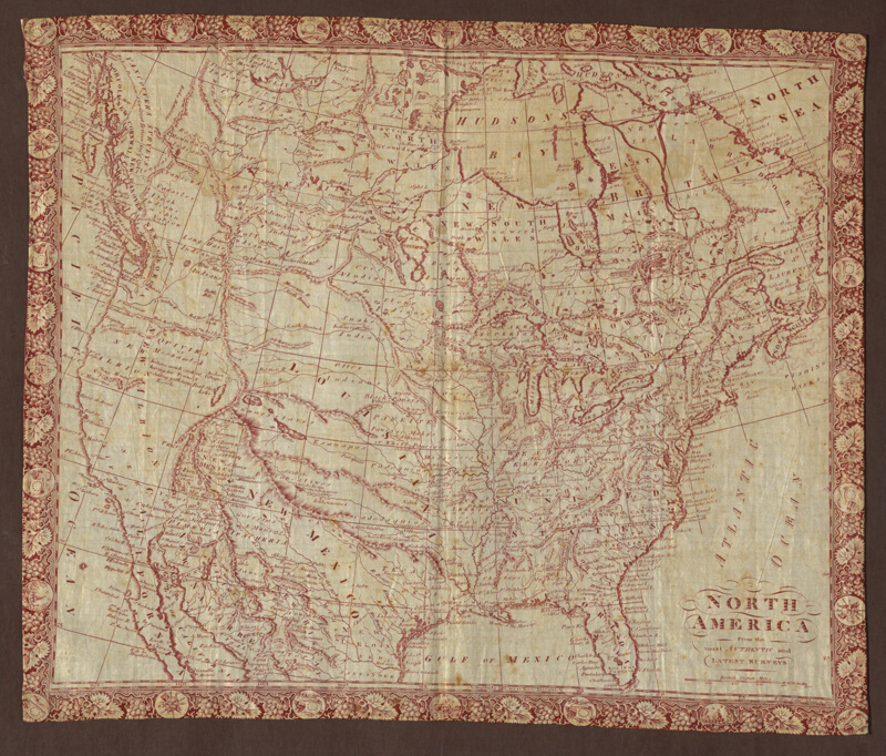 Map Of North America Handkerchief The Art Institute Of Chicago - Robert wilkinson map of the us