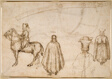 Sketches of the Emperor John VIII Palaeologus, a Monk, and a Scabbard