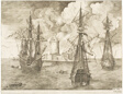 Three Men-of-War with Sails Furled