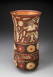 Beaker Depicting Warriors Holding Staffs Surrounded by Regalia