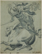 Perseus Holding the Head of Medusa, with Pegasus in the Background