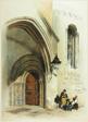 Doorway, Temple, frontispiece to Original Views of London as It Is