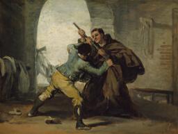 Friar Pedro Wrests the Gun from El Maragato