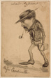 """Caricature of Henri Cassinelli (""""Rufus Croutinelli"""")"""