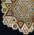 Bedcover (Unfinished Mosaic, Honeycomb or Grandmother's Flower Garden Quilt)