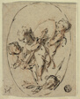 Putti with Shield and Sword