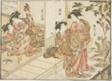 "Courtesans of Maruebiya, from the book ""Mirror of Beautiful Women of the Pleasure Quarters (Seiro bijin awase sugata kagami),"" vol. 2"