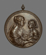 Portrait Medallion:  Anne of Austria and her Son, the future King Louis XIV