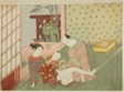 Lovers with Young Attendant Looking on, from an untitled series of erotic prints