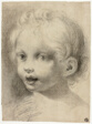 Child's Head. Verso: Nude Male Figure