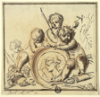 Putti with Medallion