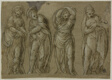 Four Standing Draped Female Figures