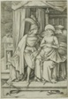A Man and Woman Seated on a Bed