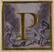 "Historiated initial ""P"" with Resurrection from a Choirbook"