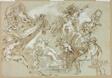 Apotheosis of Hercules (recto); Sketches of Horse's Head, Horse's Forequarters, and Altarpiece or Ciborium (verso)