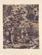 Le Solitaire au Pont du Torrent (The Hermit at the Bridge over the Torrent) (Furnishing Fabric)
