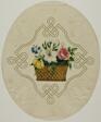 Basket of Flowers in Printed Embossed Borders