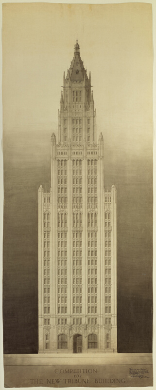 Chicago Tribune Tower Competition Entry: Michigan Avenue ...