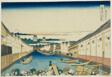 "Nihonbashi Bridge in Edo (Edo Nihonbashi), from the series ""Thirty-six Views of Mount Fuji (Fugaku sanjurokkei)"""
