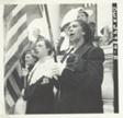 "American Legion Color Bearer Singing ""America"" at Memorial Day Services, Arlington Cemetery"