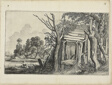 Dilapidated Hut, Plate 4 from Landscapes
