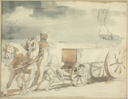 Munitions Cart Drawn by Two Horses