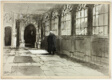 Cloister of Chapel — Grey Friars, from In Thackeray's London