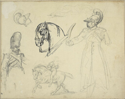 Sketches of Horses and Soldiers
