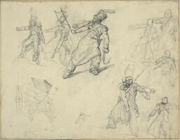 Studies of a Grenadier and a Munitions Cart