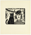 Cat and I - print #1 of 52 in the 1936 Calendar of The Chicago Society of Artists