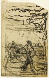 Sketches, Fragment: Peasant Seated at the Foot of a Tree