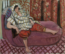 Woman on Rose Divan