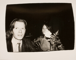 Jim Carroll and Unidentified Woman