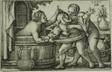 Buffoon and Two Bathing Women