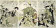 Parody of Minamoto no Yoritomo releasing cranes at Yuigahama
