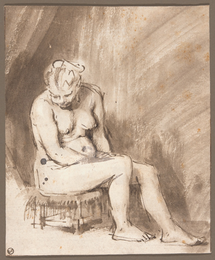 Seated Female Nude The Art Institute Of Chicago
