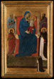 Virgin and Child Enthroned with Saints Peter, Paul, John the Baptist, and Dominic and a Dominican Supplicant
