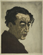 "Portrait of the Poet Hagiwara Sakutaro (1886–1942), Author of ""Ice Island"""
