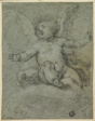 Putto Seated on Clouds