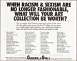 When Racism & Sexism Are No Longer Fashionable, What Will Your Art Collection Be Worth?