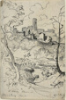 Italian Town with River (recto); View of a Town (verso)