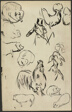 Sketches for a Natural History (Histoires naturelles) (recto); Rooster (verso)
