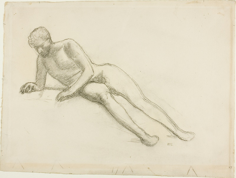 Agree, Reclining male nude