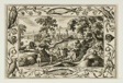 Deer Hunt, from Landscapes with Old and New Testament Scenes and Hunting Scenes