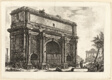 View of the Arch of Septimius Severus, from Views of Rome