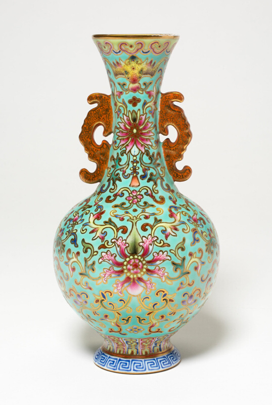 Vase With Dragon Shaped Handles The Art Institute Of Chicago