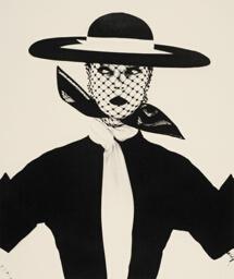Black & White Vogue Cover (Jean Patchett), New York
