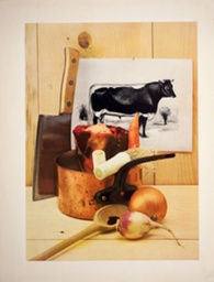 Food still life, ingredients for beef stew